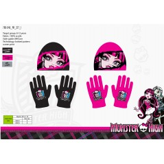 Set bonnet et Gants Monster High