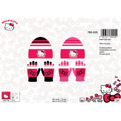 Set Bonnet et Gants Hello Kitty -780-025