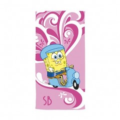Beach towel sponge Bob 76x152 cm 100% Cotton
