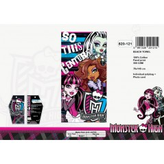 Telo mare Monster High in cotone