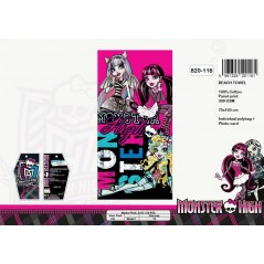 Telo mare in cotone gm Monster High - 820-116