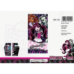 Baumwoll Strandtuch gm Monster High - 820-122