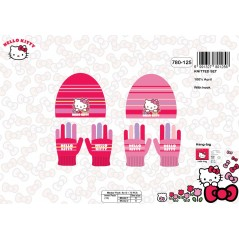Set Bonnet et Gants Hello Kitty -780-125