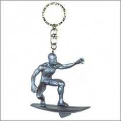 key chain figurine the surfer of silver