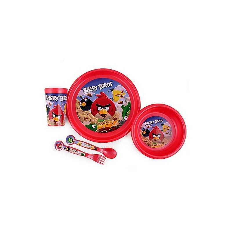 ANGRY BIRDS 5-piece childrens tableware ANGRY BIRDS polypropylene