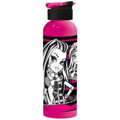 750 ml aluminiowa butelka ze słomką Monster High