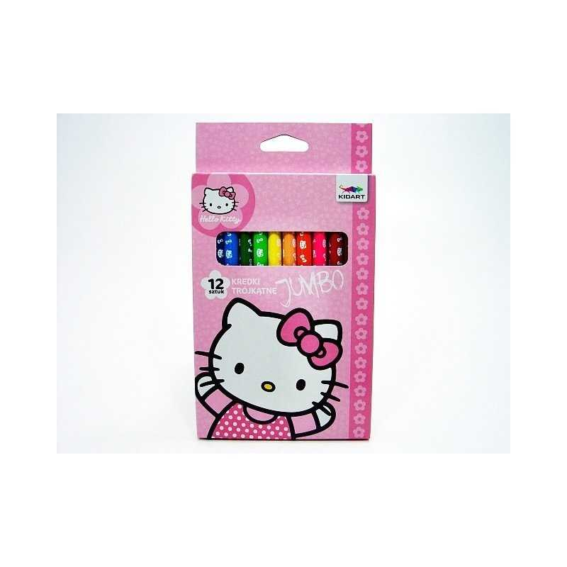 Box of 12 color pencils Hello Kitty