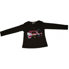 T-shirt colour chocolate long sleeve Hello Kitt