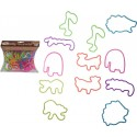 BLISTER OF 12PCS Bracelets SILLY BANDS SAFARI 100% SILICONE