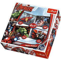 Puzzle Avengers - 4 in 1 Puzzle Marvel