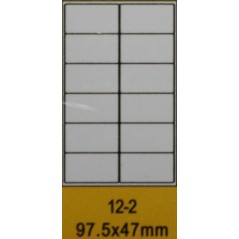 Pack of 10 A4 boards of 12 labels