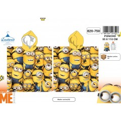 Poncho bath hooded Minions - 820-750