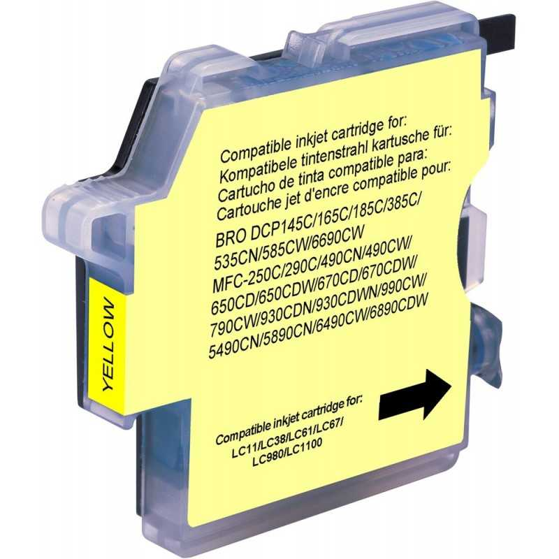 Compatible Brother-Yellow-990cw // 1100j Cartridge