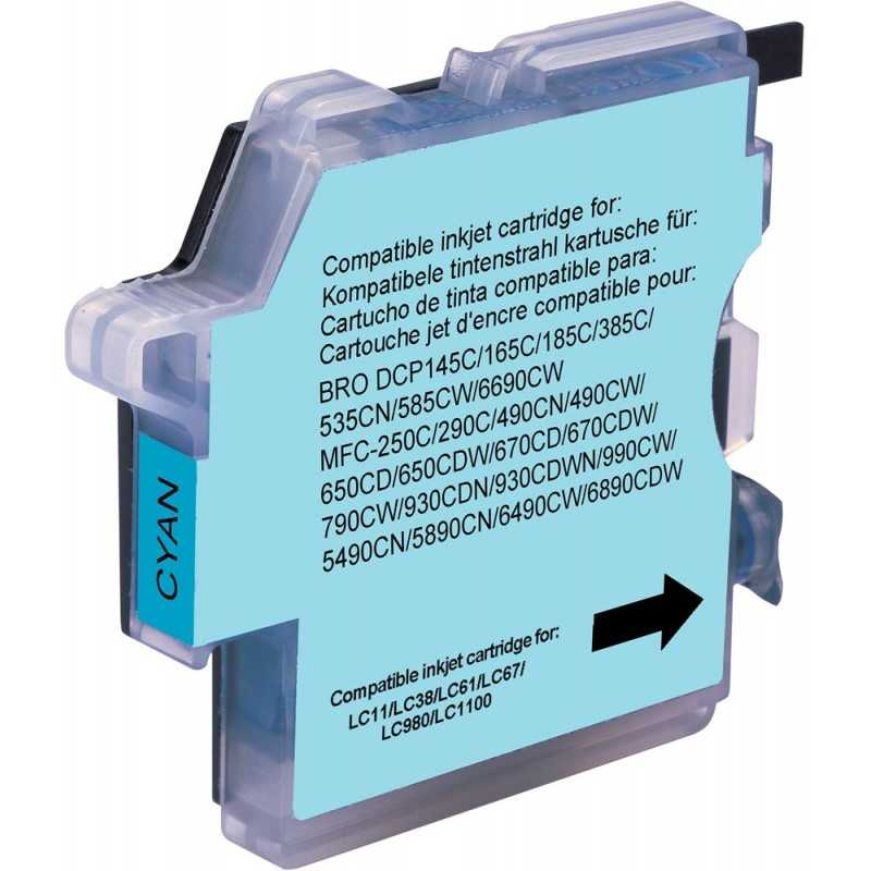 Brother compatible cartridge - cyan -lc980 / 1100c