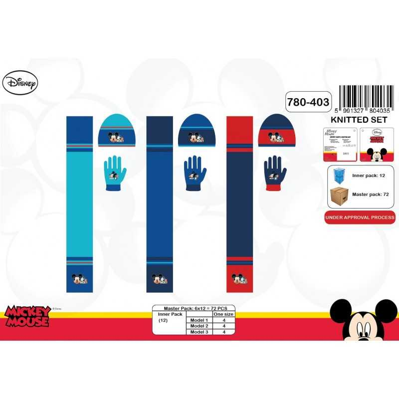 Set 3-piece Cap + scarf + gloves of Mickey mouse Disney