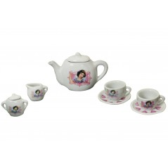 Service, tea 9 pieces Snow White porcelain