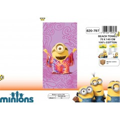 Beach towel Minions or bath towel Minions - 820-797
