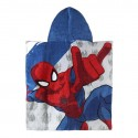 Spiderman cotton hooded poncho