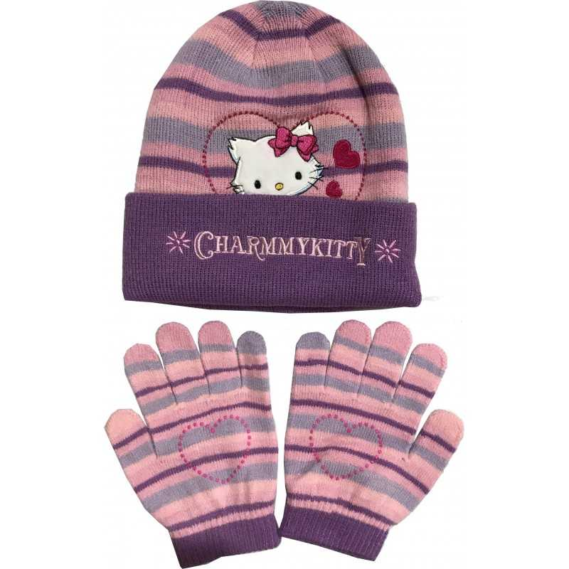 Set 2 pieces hat + glove Charmmykitty