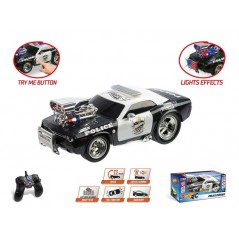 HOT WHEELS R/C POLICE PURSUIT 1/16 avec Batterie Rechargeable
