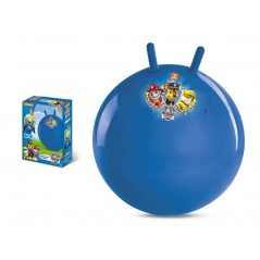 Jumping ball decorated with Paw Patrol of 50 cm in diameter.
