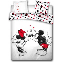 Mickey and minnie bed linen set - 100% cotton 240 X 220 CM + 2 pillowcases
